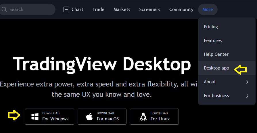 دانلود و نصب تریدینگ ویو ویندوز